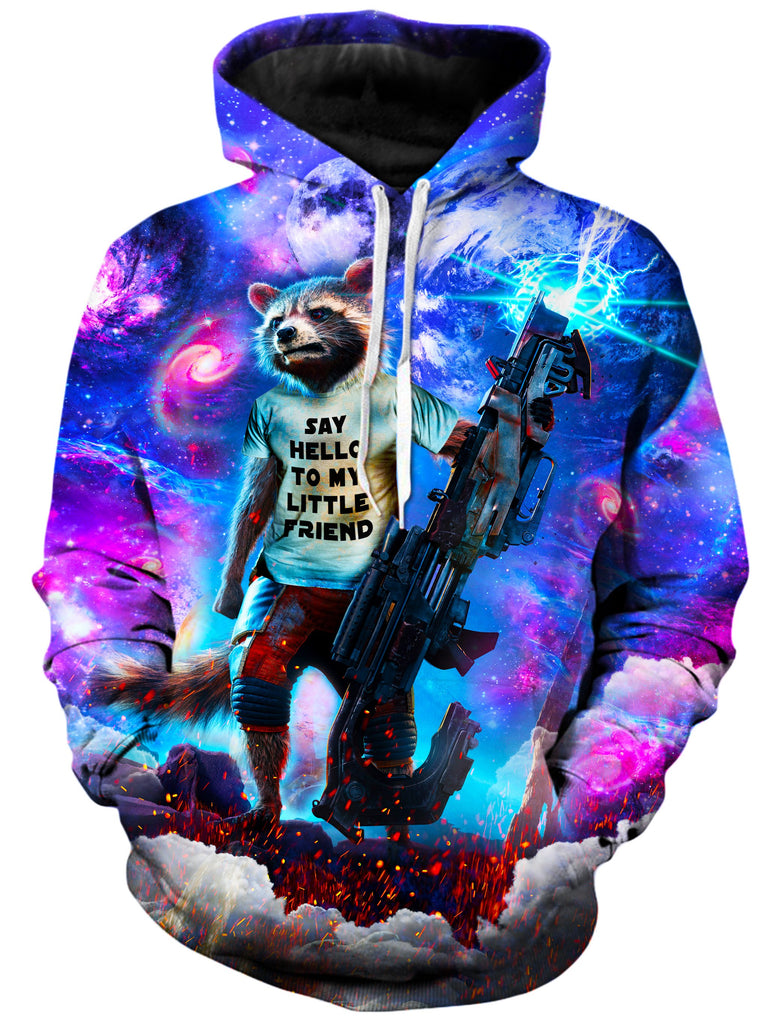 On Cue Apparel - Rocket Raccoon Hoodie