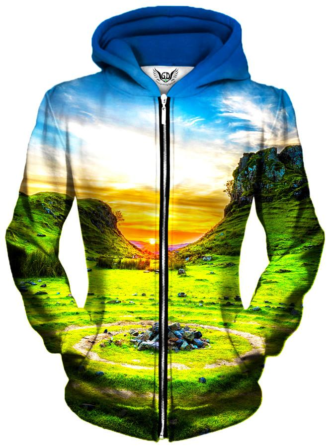 Serenity Unisex Zip-Up Hoodie, Different Type, Gratefully Dyed Damen - Epic Hoodie