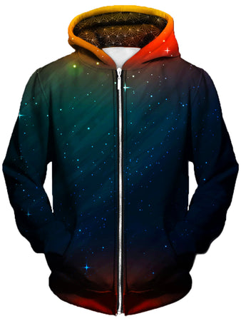 Gratefully Dyed Damen - Setting Night Unisex Zip-Up Hoodie