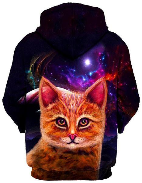 Gratefully Dyed Damen - Spaced Cat Unisex Hoodie
