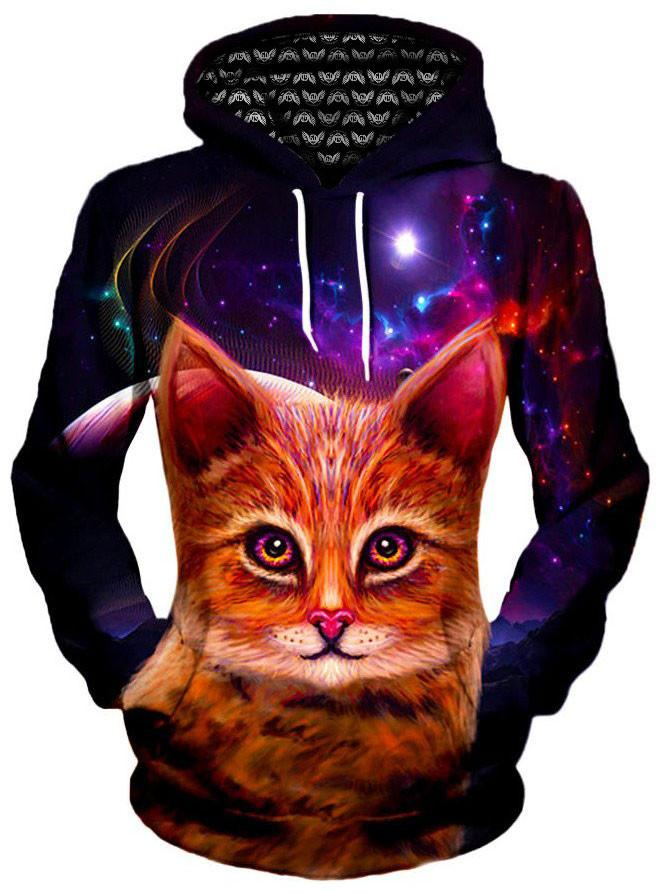 Spaced Cat Unisex Hoodie, Different Type, Gratefully Dyed Damen - Epic Hoodie