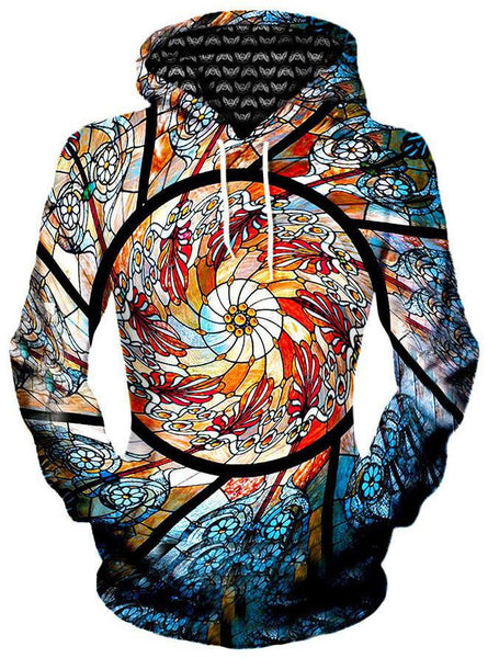 Gratefully Dyed Damen - Stained Glass Unisex Hoodie