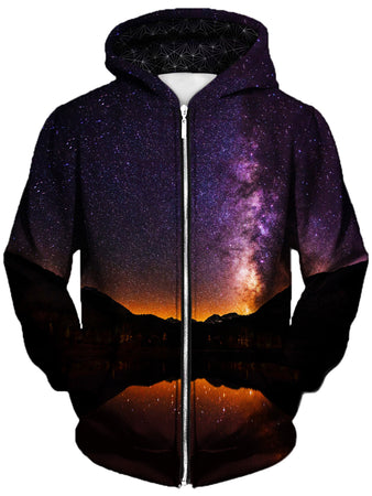 Gratefully Dyed Damen - Starlit Valley Unisex Zip-Up Hoodie