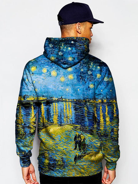 Gratefully Dyed Damen - Starry Waters Unisex Hoodie
