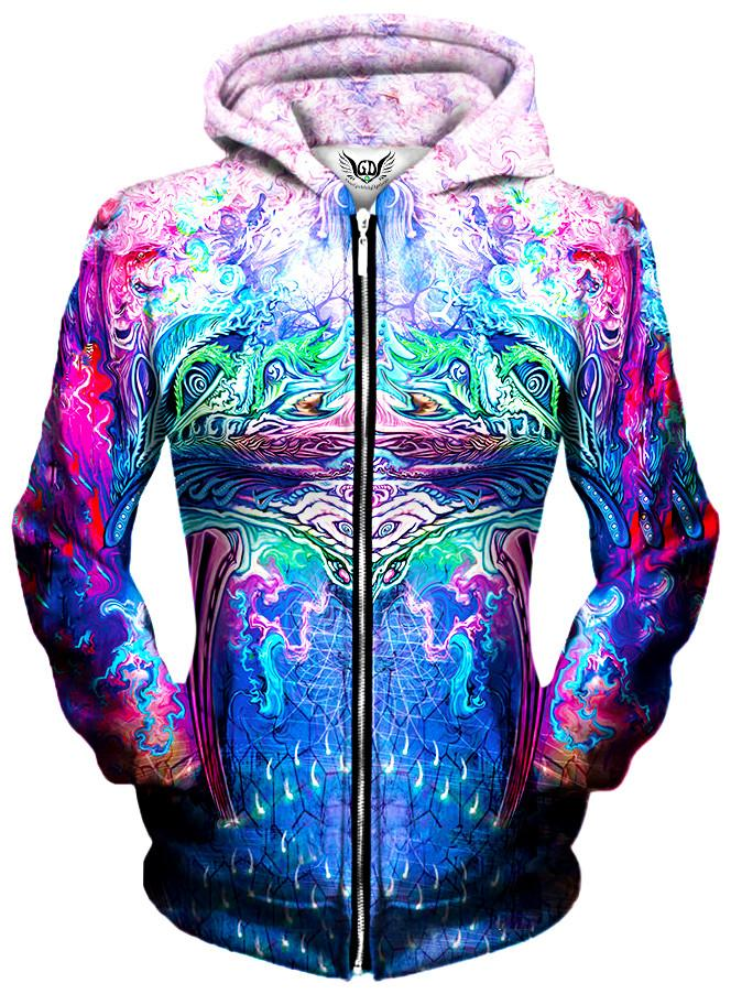 Symetricity Unisex Zip-Up Hoodie, Different Type, Gratefully Dyed Damen - Epic Hoodie