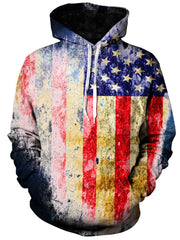 Tattered Flag Unisex Hoodie, Gratefully Dyed Damen, T6 - Epic Hoodie