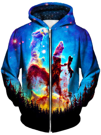 Gratefully Dyed Damen - Tree Space Unisex Zip-Up Hoodie