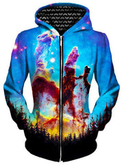 Tree Space Unisex Zip-Up Hoodie, Different Type, Gratefully Dyed Damen - Epic Hoodie
