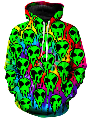 On Cue Apparel - Trippy Green Martian Hoodie