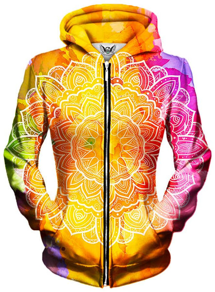 Gratefully Dyed Damen - Watercolors Unisex Zip-Up Hoodie