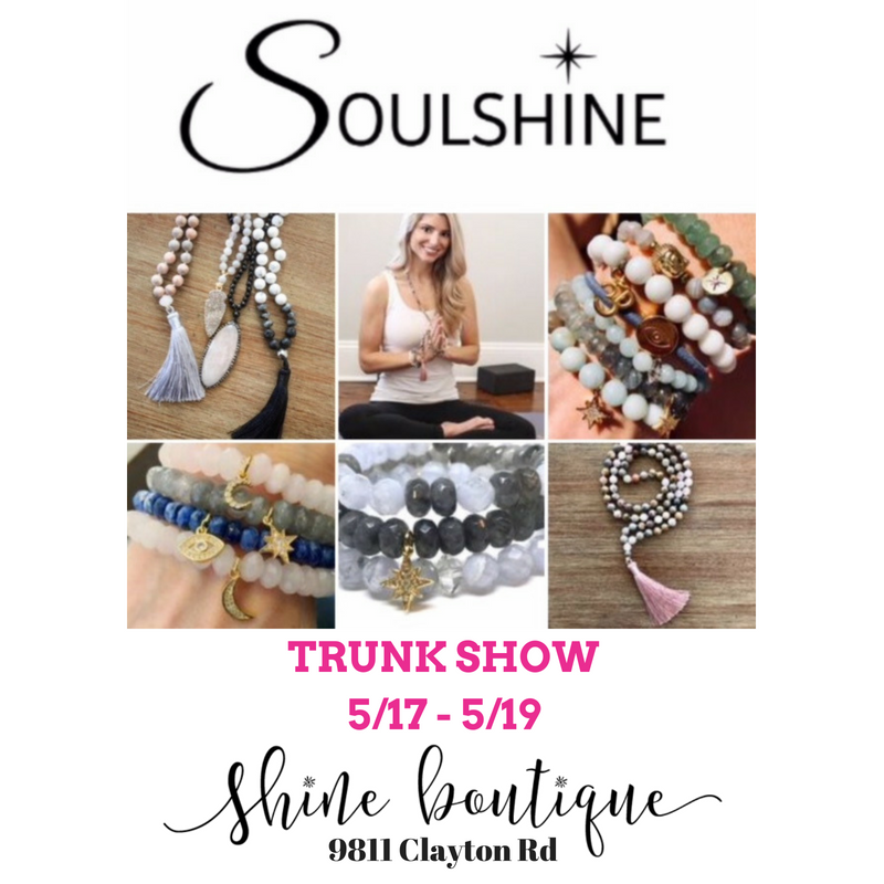 Soulshine Trunk Show at Shine Boutique in Ladue!