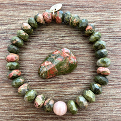 Unakite Fertility and Pregnancy Bracelet