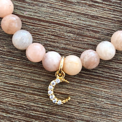 Sunstone Sun and Moon Mala Bracelet
