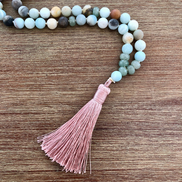 Luck & Prosperity Mala with Amazonite & Aventurine