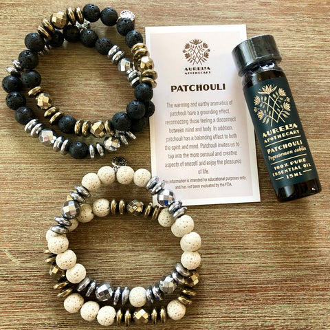 Strength and Stability Patchouli Hematite Gift Set
