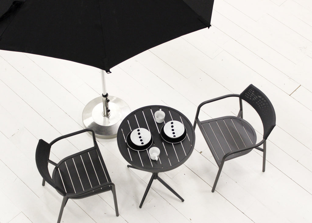 Calypso 3PC Bistro Set - Black