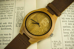 Engraved Face Bamboo Watch