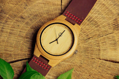 Personalized Wedding Date Wooden Watch