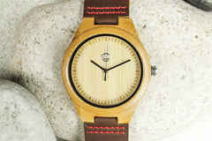 Personalized Daddy's First Christmas Wooden Watch