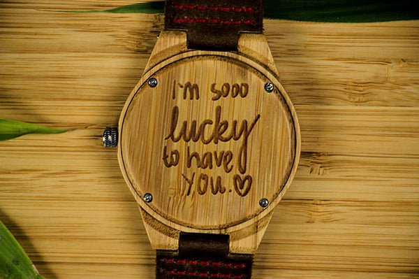 Im So Lucky Wooden Watch