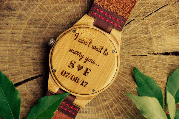 Personalized Engagement Wooden Watch