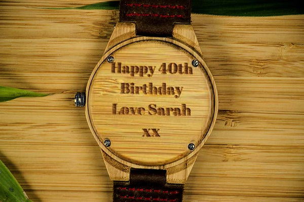Personalized Happy Birthday Wooden Watch