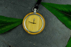 Engraved Wooden Pocket Watch