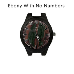 Personalized Ebony Mens Wooden Watch