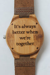Personalized Text Wooden Watch