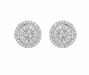 MELROSE BAGUETTE STUD EARRINGS