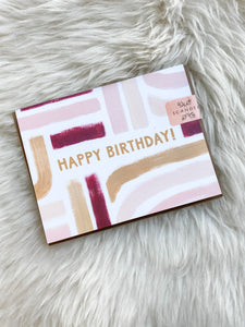 BRUSH STROKE HAPPY BIRTHDAY CARD