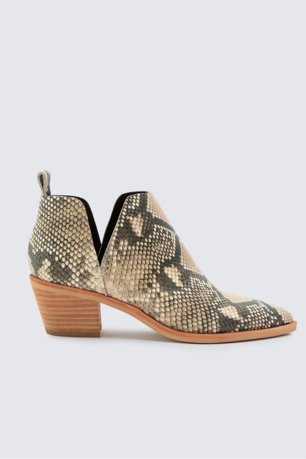 SONNI SNAKE PRINT BOOTIES