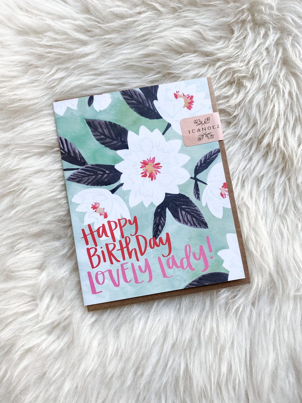HAPPY BIRTHDAY LOVELY LADY CARD