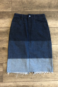 DONNA DENIM SKIRT IN TRILOGY