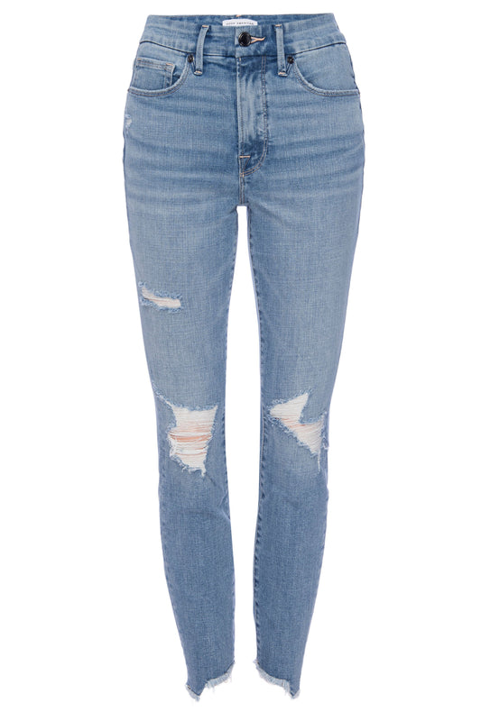 GOOD LEGS CROP SIDE STEP JEAN