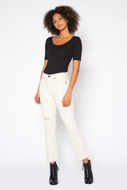 FARRAH KICK FLARE JEAN IN BONE