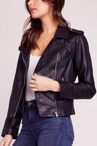 HELLO MOTO WASHED LEATHER JACKET