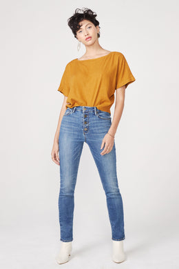 JOAN HIGH RISE CIGARETTE JEAN IN MIDSUMMER