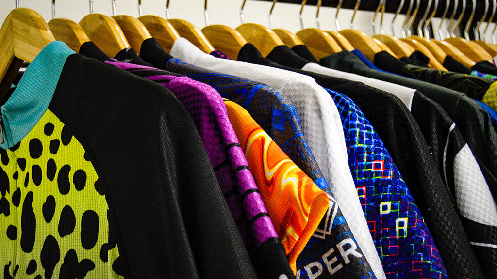 Primal Jerseys Neatly Hung for Your Next Ride