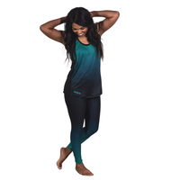 Teal Ripple Spin Tights