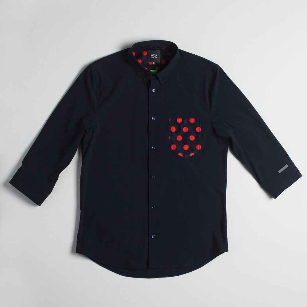 Thelonious Men's 3/4 Stretch Button Down - Navy