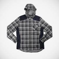 Bix Men's Hoodie Button Down - Grey