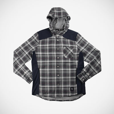 Men's Bix Hoodie Button Down - Grey