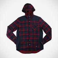 Bix Men's Hoodie Button Down - Ruby Red