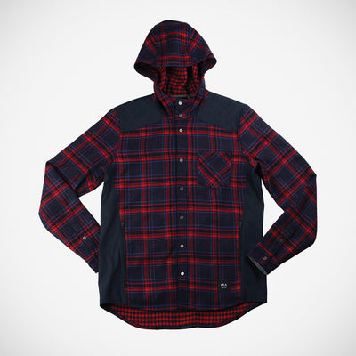 Men's Bix Hoodie Button Down - Ruby Red