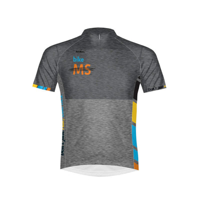 Bike MS Men's Sport Cut Cycling Jersey - Grey