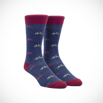 Bikes Casual Socks - Blue
