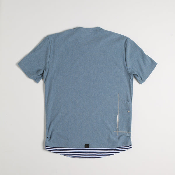 Waller Men's Cargo T-Shirt - Light Blue