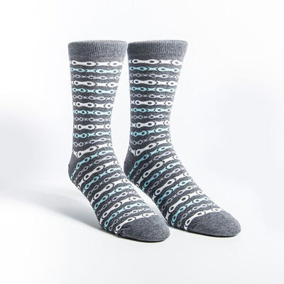 Chain Casual Socks - Grey