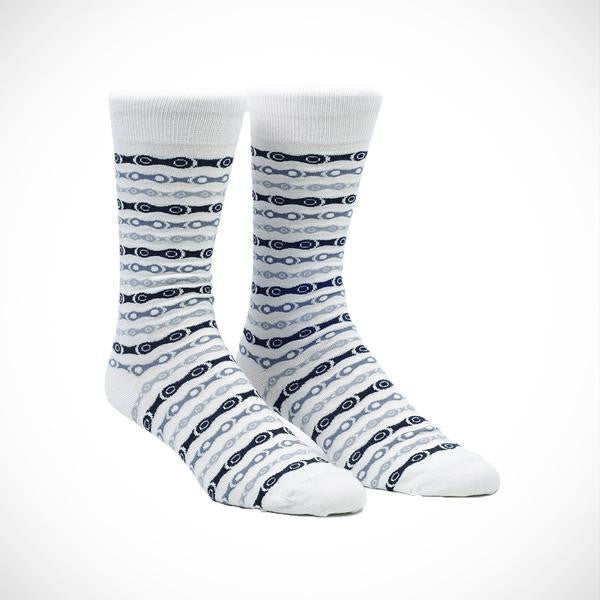 Chain Casual Socks - White
